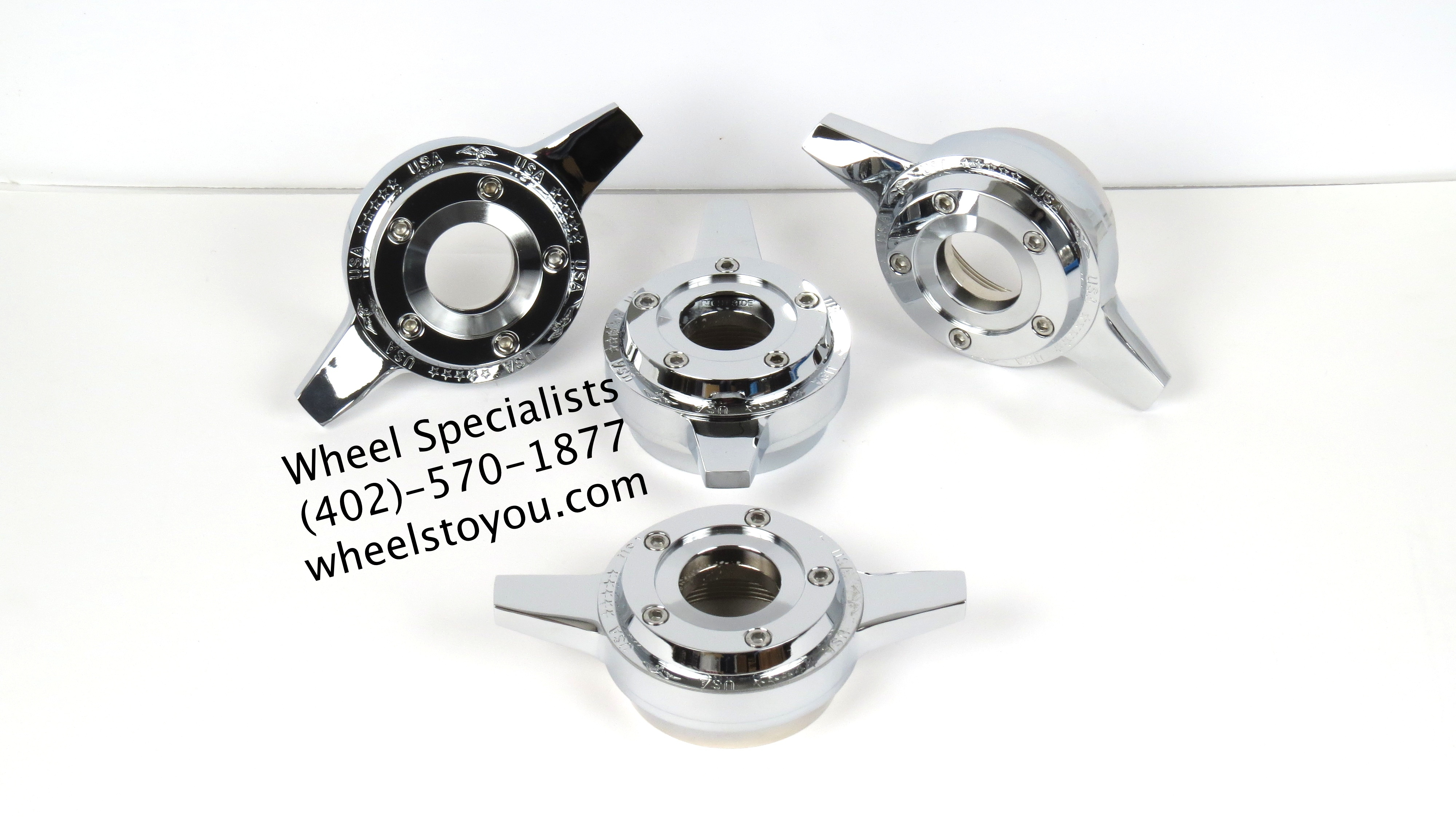 Chrome Zenith Style USA Locking Knockoff Spinners - Wheel ...